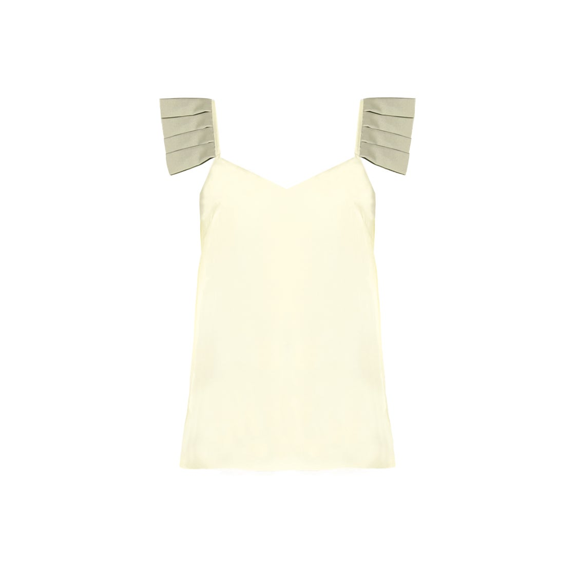 Image of PLISSE TANK| Yellow