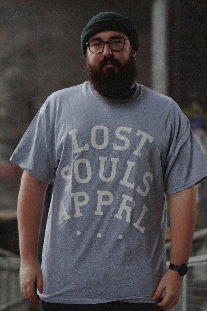 Image of .Lost Souls Slab Tee. Grey