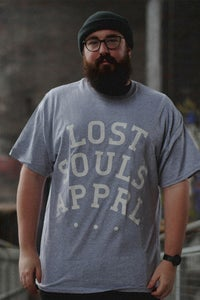 Image of .Lost Souls Slab Tee. Grey