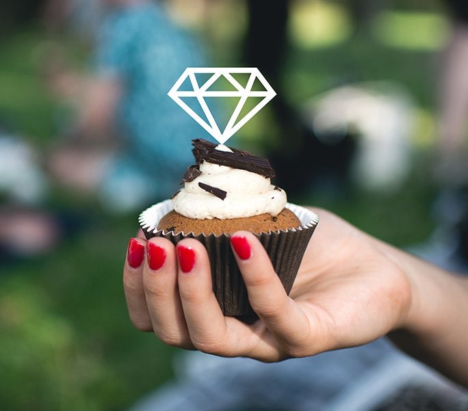 Image of Diamond Cupcake Toppers