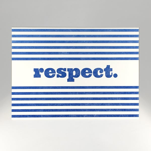 Image of respect.