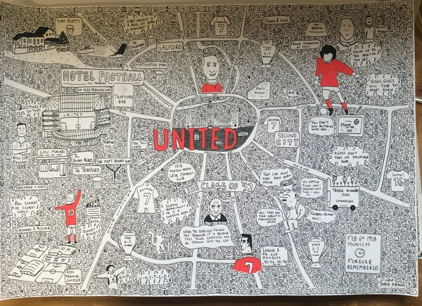 Image of United Manchester Doodle Map
