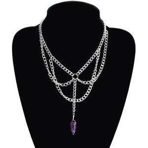 Image of Amethyst Chain Collar