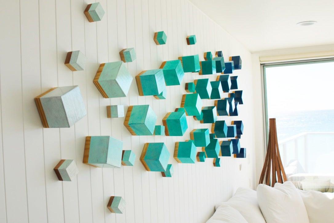 3D Wall Decor Wood Wall Sculpture  Modern Wall Decor  3D Wall Art  Original .