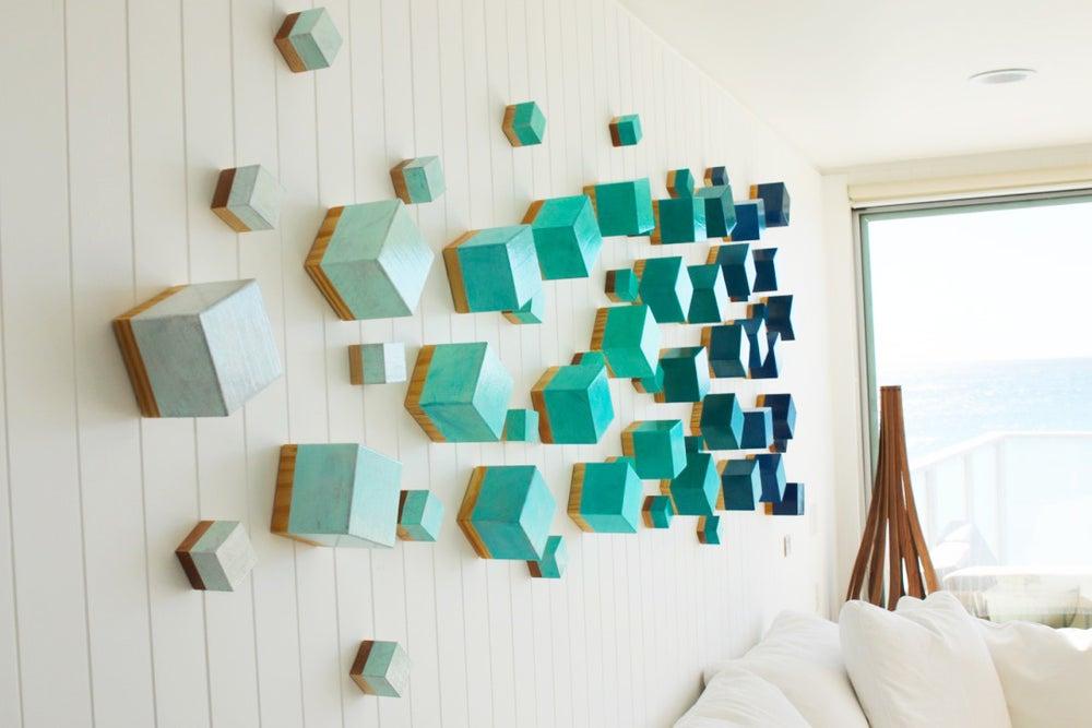 Wood wall sculpture modern wall decor 3d wall art for Decoration 3d sol