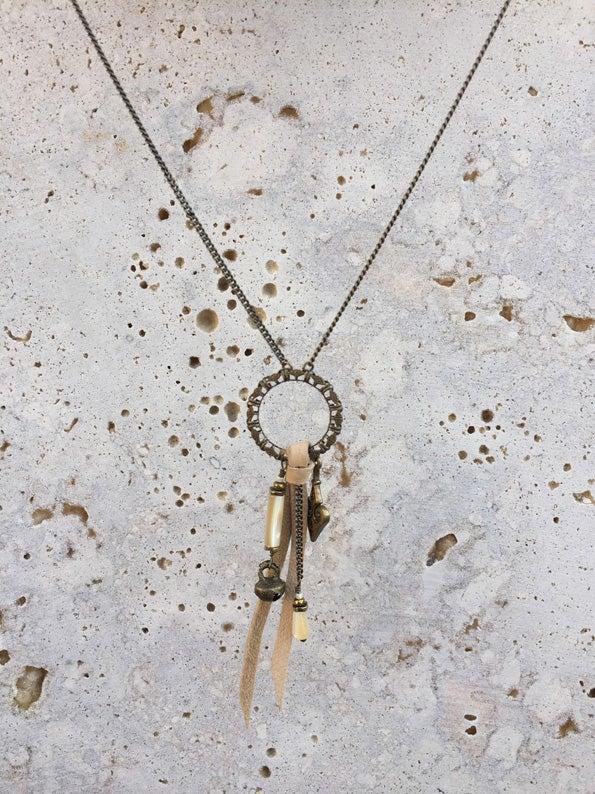 Image of Collier anneau cuir WILD