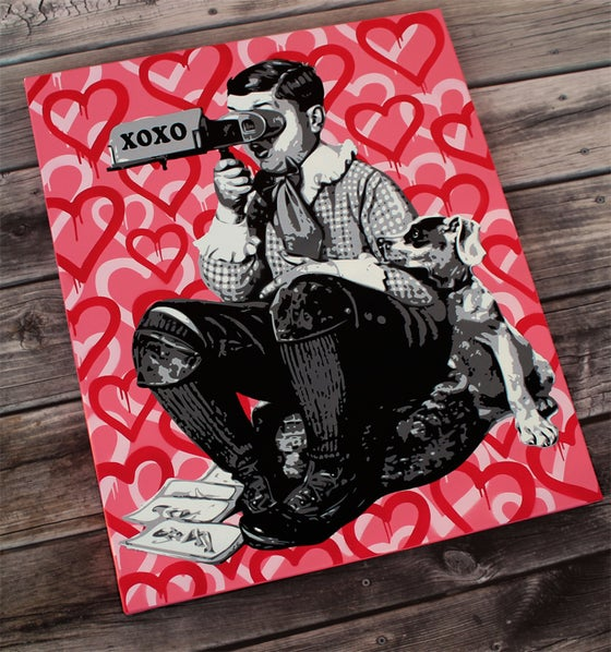 "Image of ""Loverboy"" Original Stencil on Canvas"