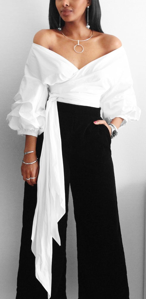 Image of Over The Shoulder Blouse