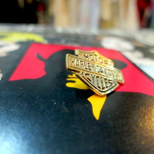 Image of Solid Brass HARLEY DAVIDSON SHEILD PIN