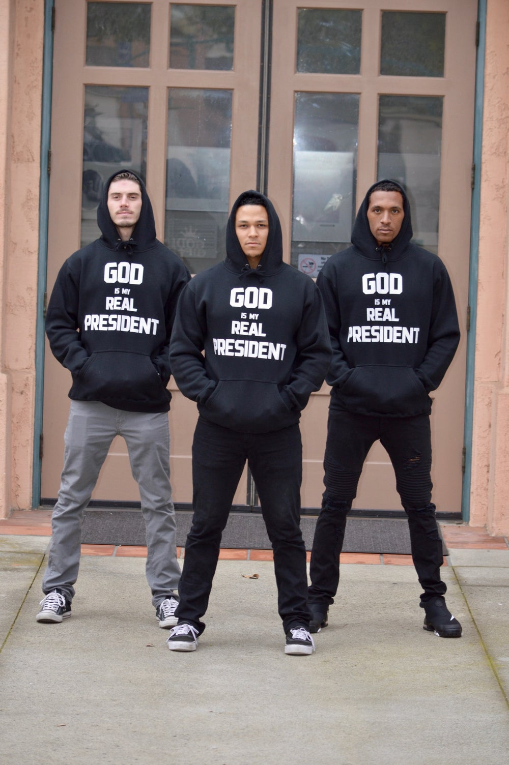 """Image of GG Heavy Hoodie - """"GOD IS MY REAL PRESIDENT"""""""