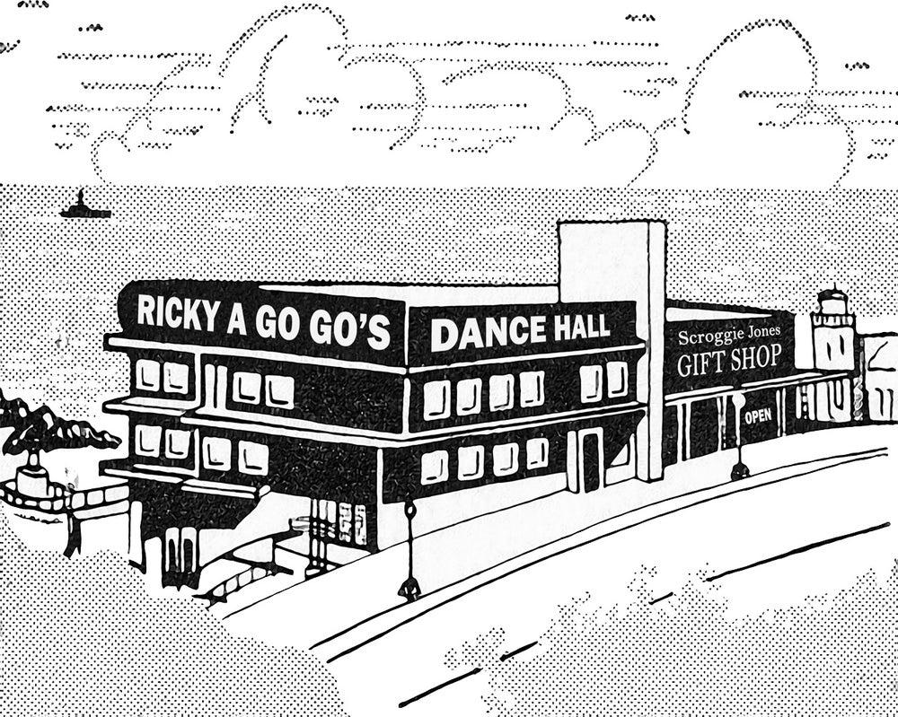 Image of Ricky A Go Go's Dance Hall Tee