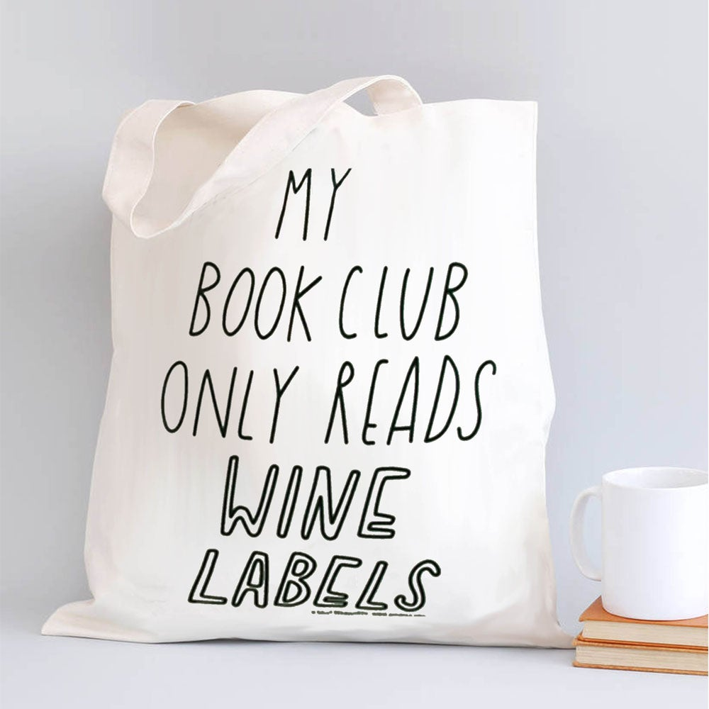 Image of Book (Wine) Club Tote Bag