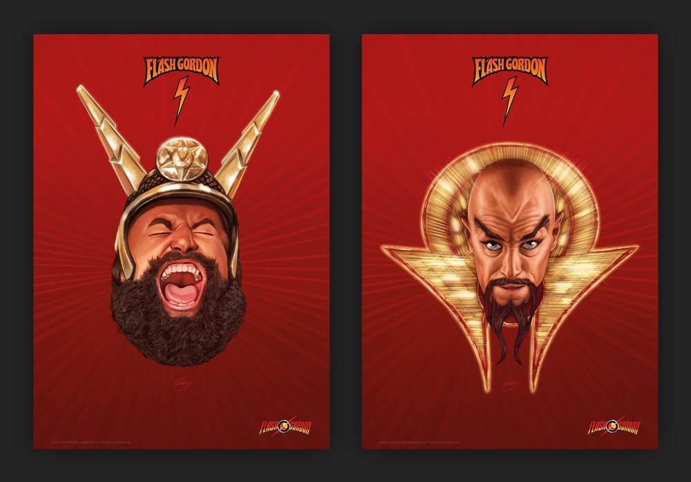 Image of Ming the Merciless and Prince Vultan (officially licensed print – artist proofs)