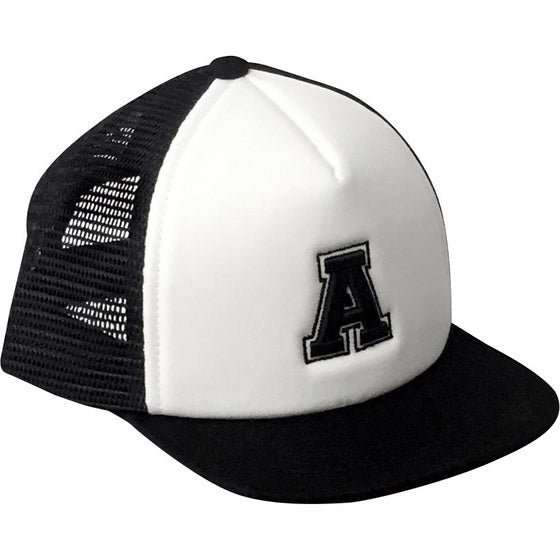 Image of Black Alphabet Trucker Hat - A