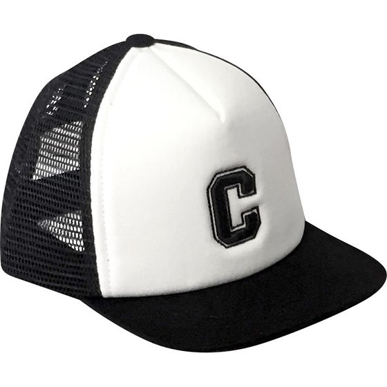 Image of Black Alphabet Trucker Hat - C