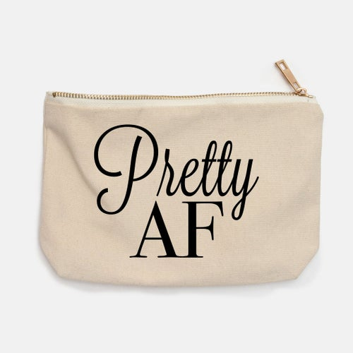 Image of Cosmetic Makeup Bag with White SIlky Lining