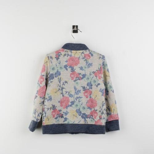 Image of Bomber felpa estampada flores/ flower fleece jacket