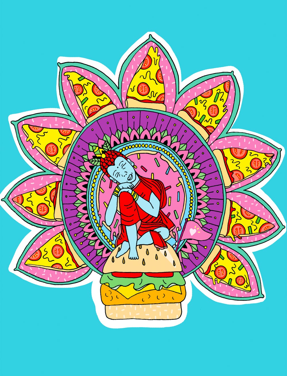 Image of Tomato Pizza Print