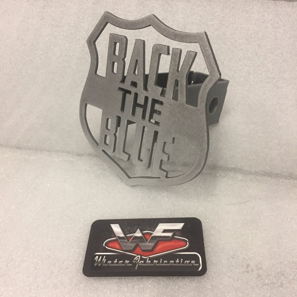 """Image of """"Back The Blue"""" Hitch Cover"""