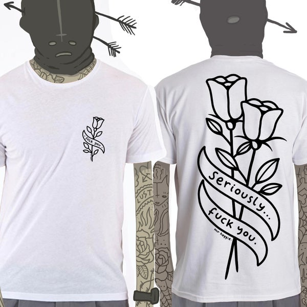 Image of the fuck you rose shirt