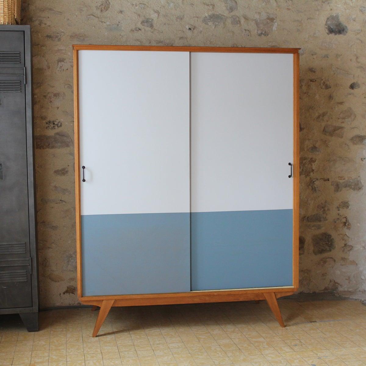 armoire dressing ann es 60 70 fibresendeco vannerie. Black Bedroom Furniture Sets. Home Design Ideas