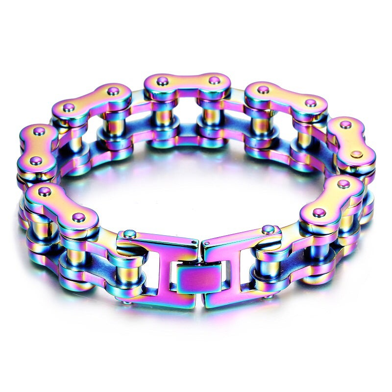 Image of Pre Order Ships The 3rd Week of November Titanium Color Stainless Steel Chain Bracelet