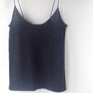 Image of Simple Top // Dark Blue w. White