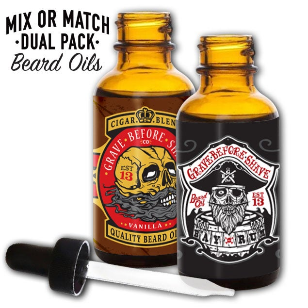 Image of GRAVE BEFORE SHAVE™  Beard Oil Dual Pack