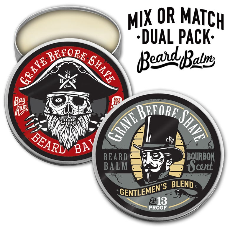Image of GRAVE BEFORE SHAVE™  BEARD BALM DUAL PACK