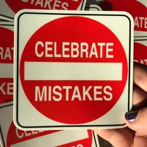 Image of Celebrate MistakesSticker