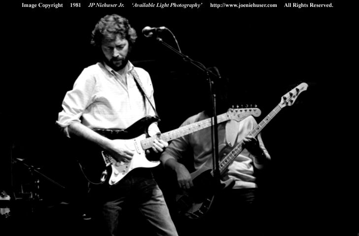 Image of Original 1981 Eric Clapton Limited Edition Fine Art Print