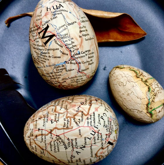 Image of Eggs - map, music and text