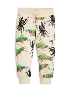 Image of Insects sweatpants, beige, Mini Rodini