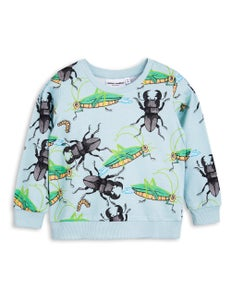 Image of Insects sweatshirt, light blue, Mini Rodini