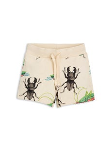 Image of Insects sweatshorts, beige, Mini Rodini