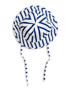 Image of Stripe sun hat, blue, Mini Rodini