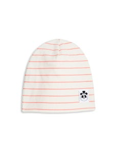 Image of Stripe rib beanie, pink, Mini Rodini