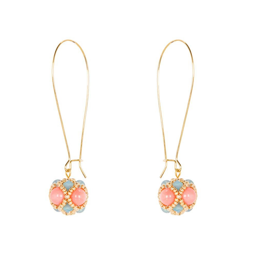 Image of Pink Coral Empire Earrings
