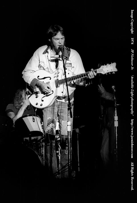 Image of Original 1974 Neil Young Limited Edition Fine Art Print
