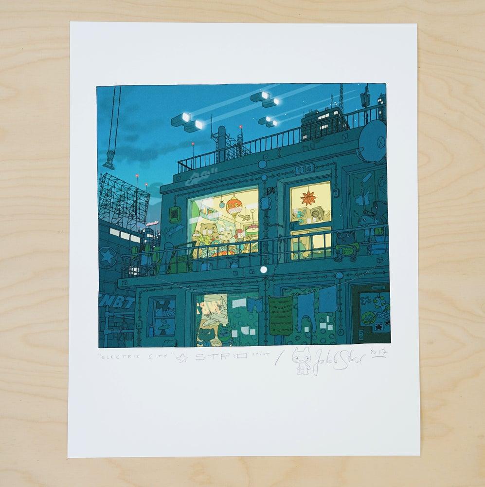Image of ELECTRIC CITY I · Kunstprint