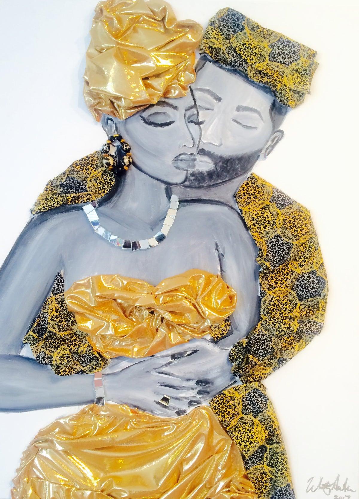 "Image of ""GOLDEN LOVE"" Art Print"