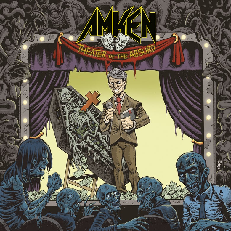"Image of AMKEN ""THEATER OF THE ABSURD"" ALBUM (2017) CD JEWEL CASE"