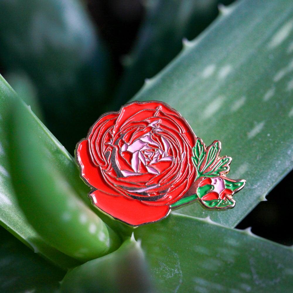 Image of Ranunculus Flower Enamel Pin