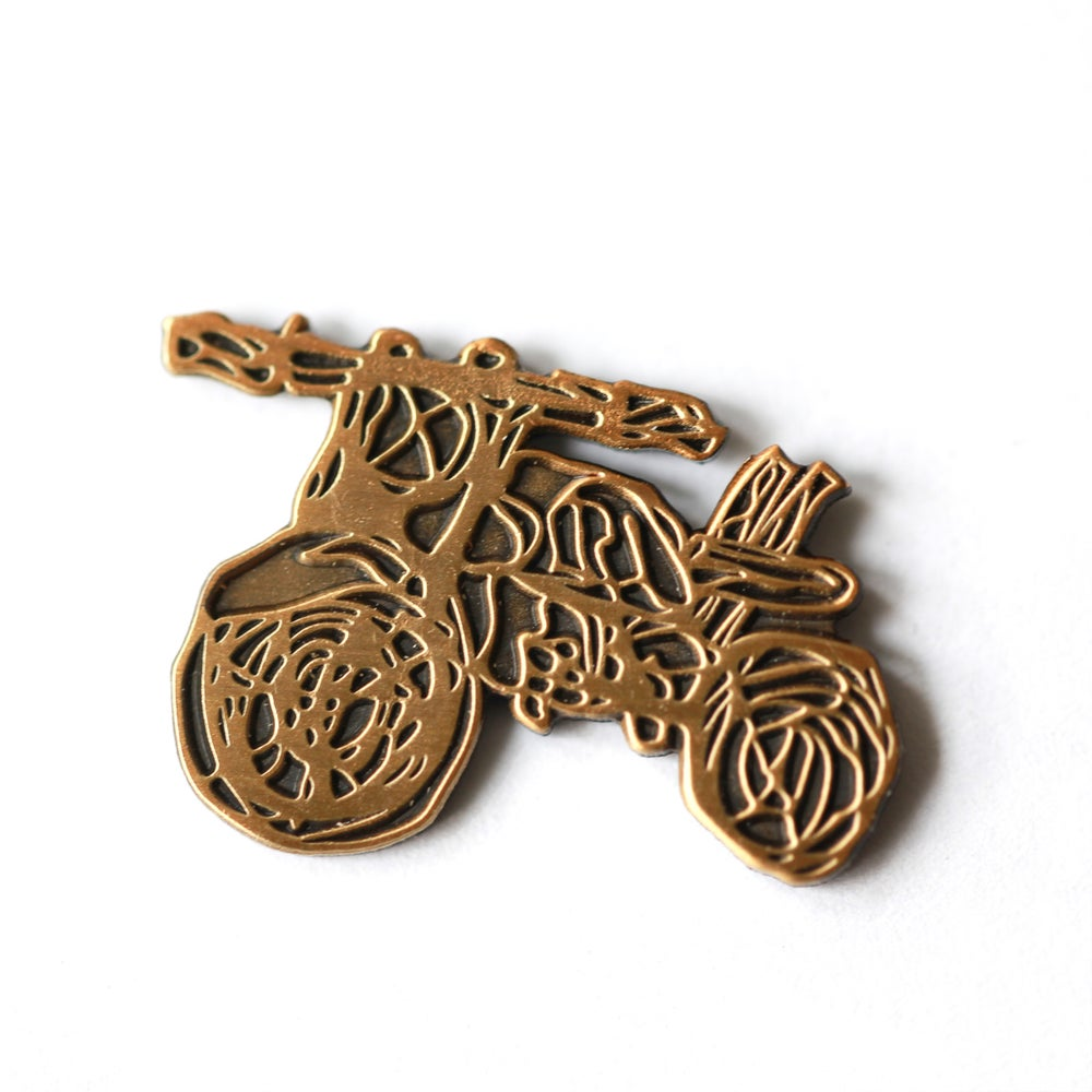 Image of Scribble Motorcycle Enamel Pin
