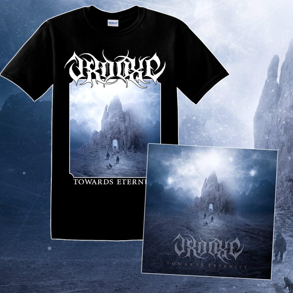Image of Package Deal: CD + Shirt Towards Eternity (Men or Girlie)