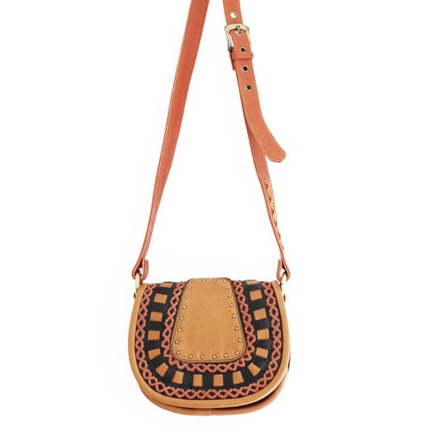 Image of Leather Saddle Bag
