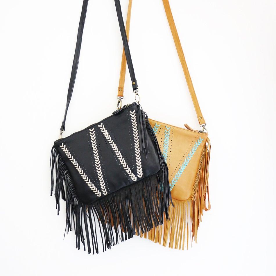 Image of Gypster Fringe Leather Bag