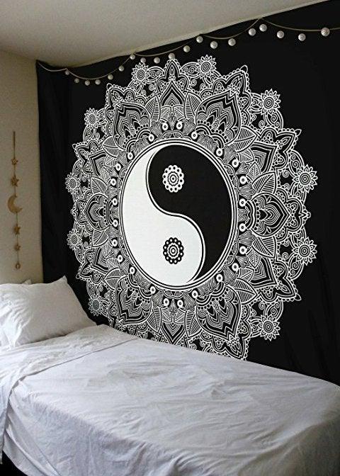 Ying Yang Mandala Tapestry Isabel S Closet