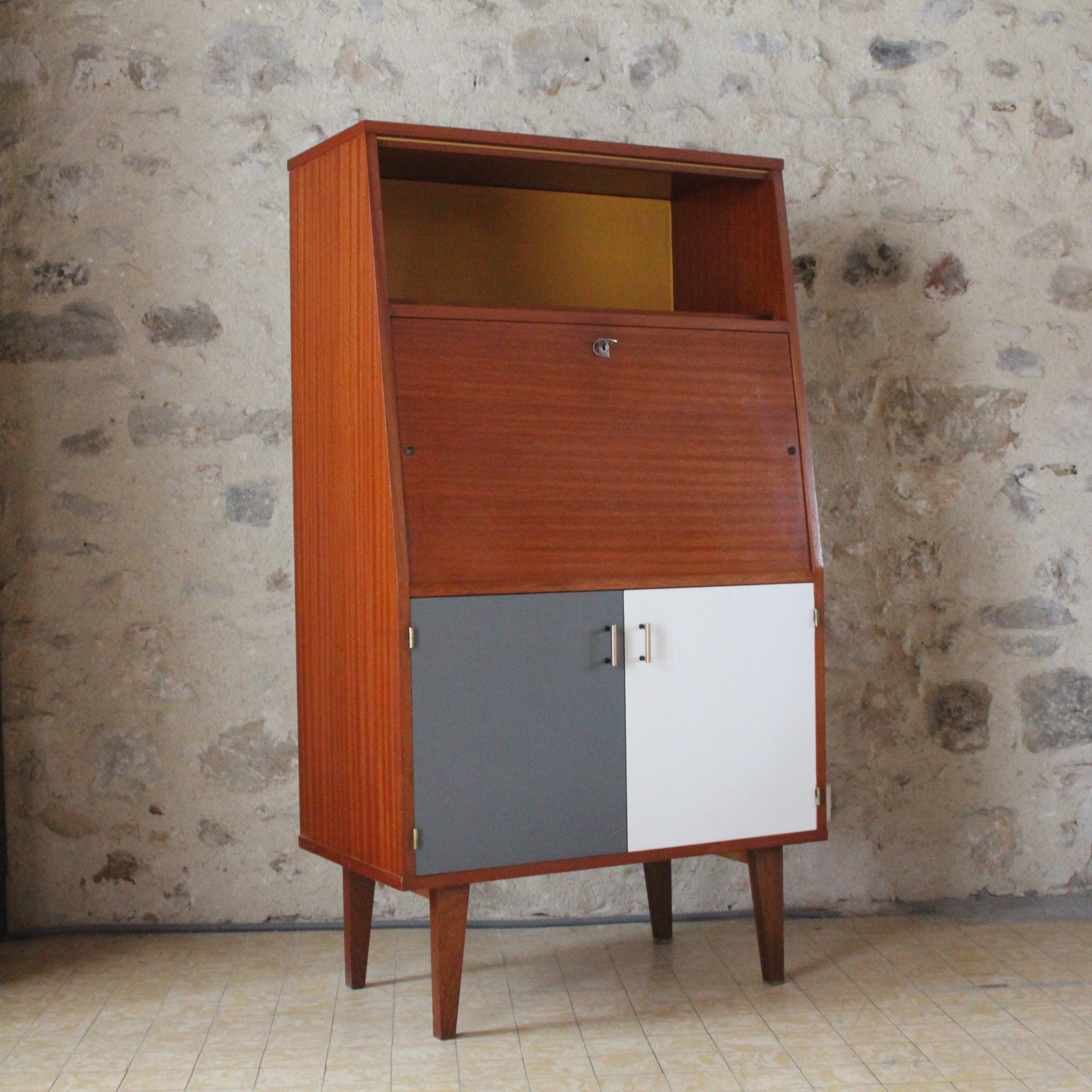 meuble secr taire r tro fibresendeco vannerie. Black Bedroom Furniture Sets. Home Design Ideas