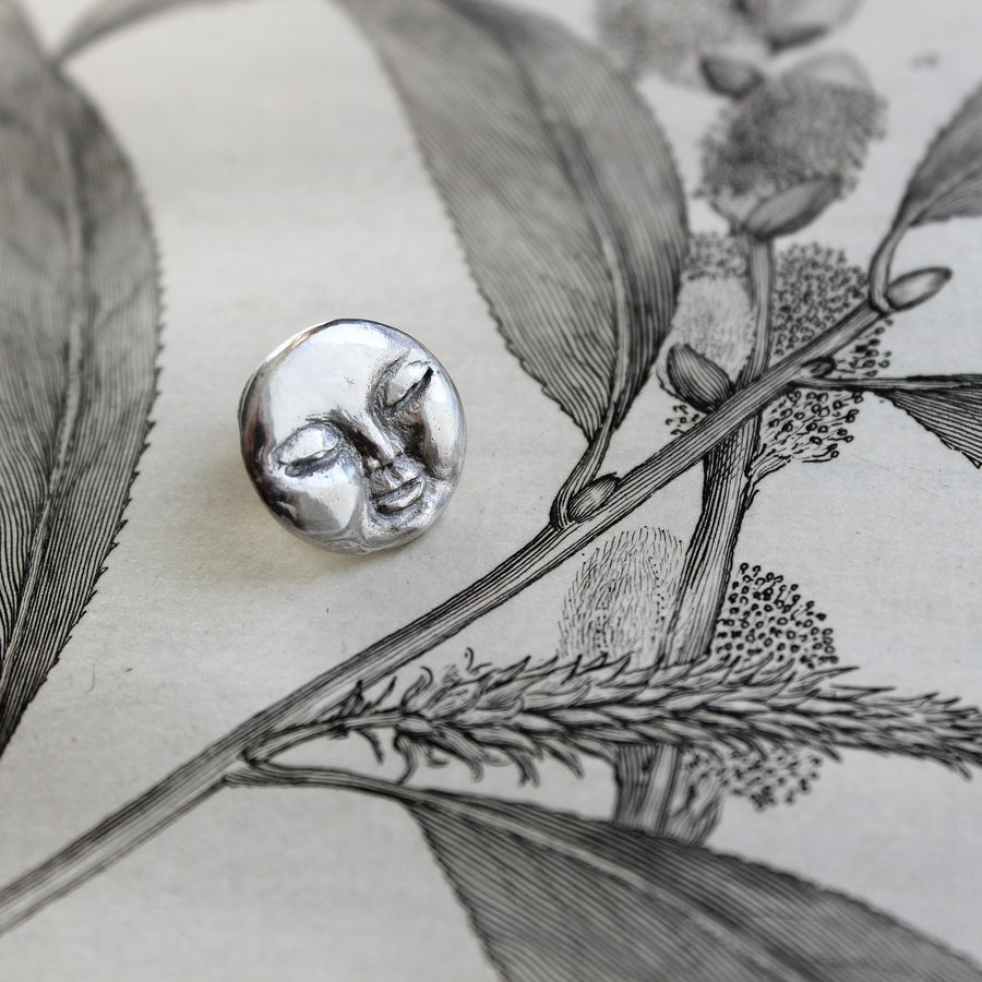 Image of full moon lapel pin